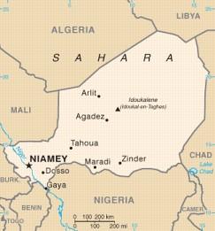 Niger map 75%