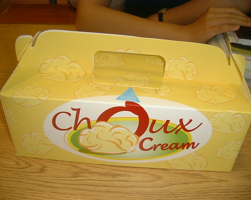 Choux cream: box