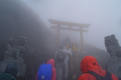 Torii near Mt Fuji Top