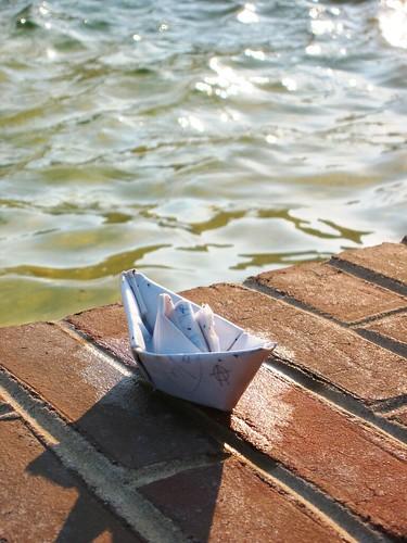 delaware delawaretech water fountain boat sailboat paper origami