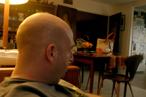 Three Quarter View of Bald Guy