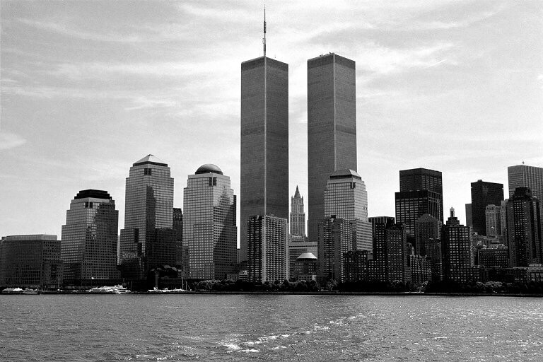WTC Twin Towers with Woolworth Building in the middle, 1997
