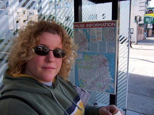 Ellen with MUNI Bus Map