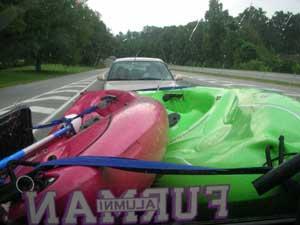 kayaks on truck