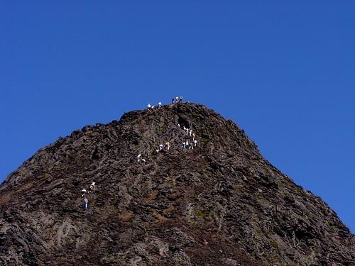 Os Amigos dos Açores chegando ao topo - foto da Sofia