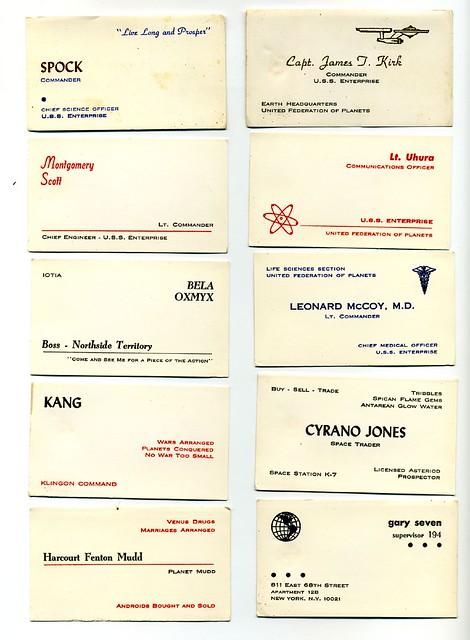 Star Trek Business Cards
