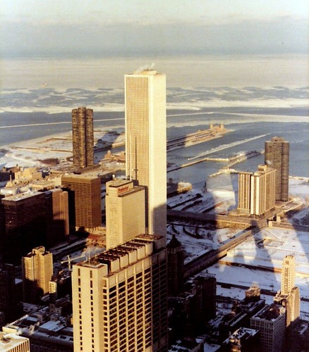 Looking Northeast from the Sears Tower, 1979 | by corydalus