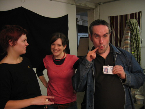 cassie, lis & some fella with his id badge | by jaypod