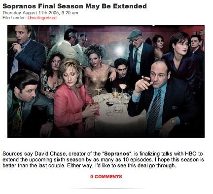 Sopranos post