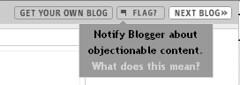 Blogger Navbar Flag Button