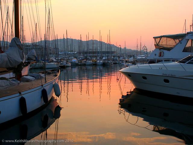 Cannes Marina at Dawn