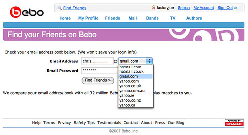 Find your Friends on Bebo | Uploaded with plasq's Skitch