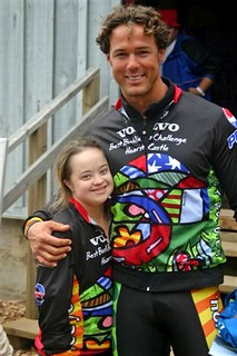 Sebastian Siegel and Katie Meade at the finish in 2006 | by bestbuddieschallenge