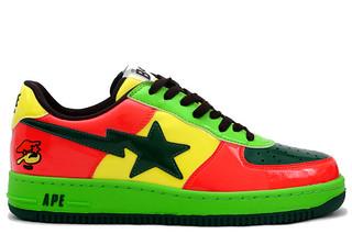 Bape Sta Psyche Green/Red/Black