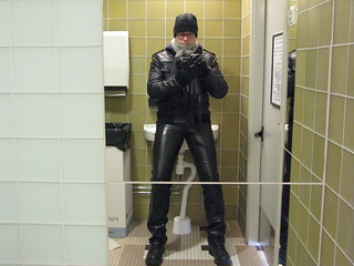 A picture of me in leather