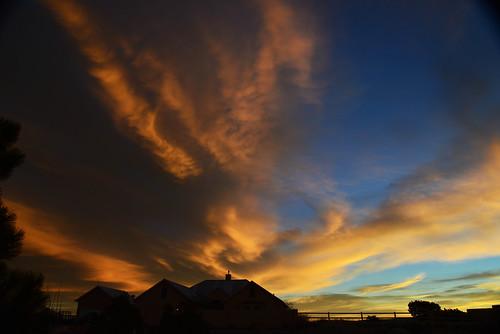 sunrise clouds southwestern sky newmexico