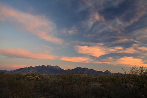 sunset arizona az santaritamountains
