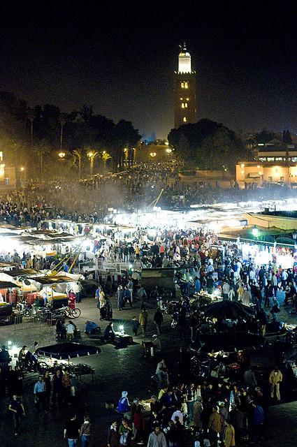 Marrakech At Night Jamma El Fna Square Marrakech Morocco