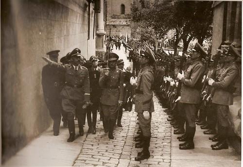 Heinrich Himmler en Toledo, 1940 (Fotografía Rodríguez). Archivo Histórico Provincial, JCCM