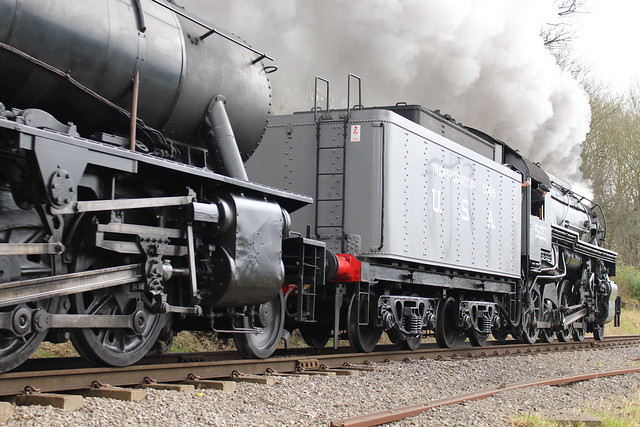IMG_8753  U.S Army Transportation Corps (USATC) Class S160 Heavy Freight Locomotive No. 5820 and British War Department (WD) Heavy Freight Locomotive No. 90733