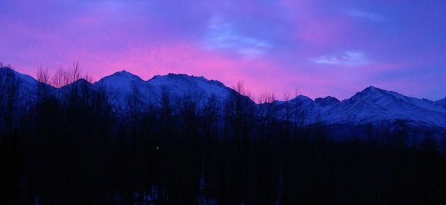 Cool Alaskan sunrise from Elmendorf