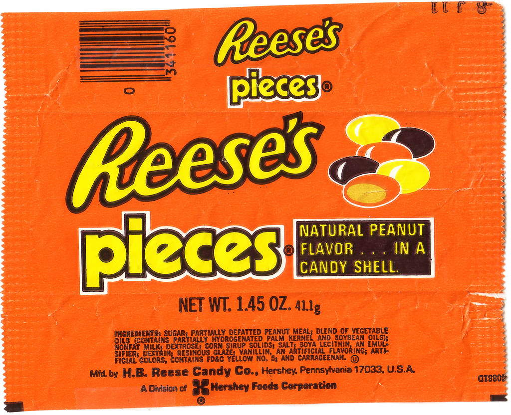 Reeses Pieces Wrapper 1980s This Is A Pretty Early Ree Flickr