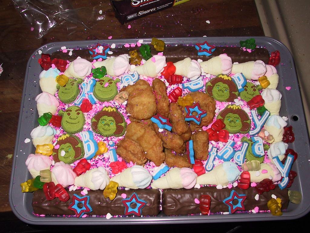 Magnificent Chicken Nugget Birthday Cake Pjack Hankering Flickr Birthday Cards Printable Inklcafe Filternl