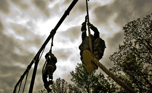 Sapper competitors complete the rope climb | by The U.S. Army