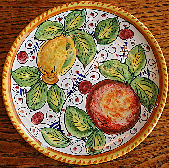 Squircle - Citrus - Italian Ceramic Plate