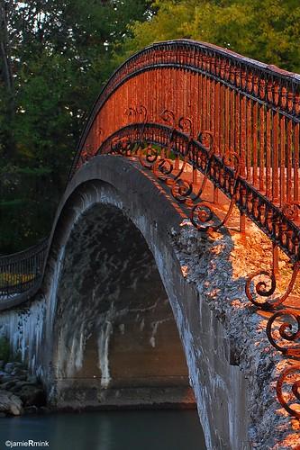rust ironrailing nikond80 sunsetbridge elizabethparkmichigan erodedbridge erodedconcrete