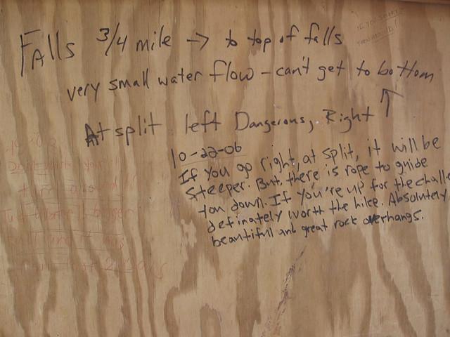 Signage, Piney Falls Pocket Wilderness, Rhea Co, TN