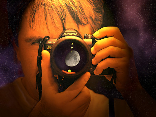 portrait moon selfportrait self reflex manipulation olympus luna cosmo ritratto zd zuikodigital stevegatto ©stevegatto olympuse510 200mmed