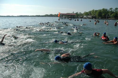 White Lake Sprint Triathlon Start 220   by cygnus921