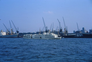 """1966 Slide #159 Rotterdam Dutch Red Cross - holiday ship """"SS Henry Dunant"""" for the disabled"""