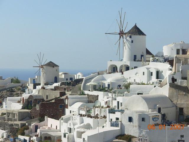 Windmills of Oia - Santorini - Greece