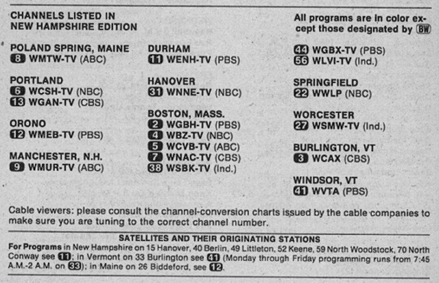New Hampshire Edition (June 21, 1980) | From my TV Guide col… | Flickr