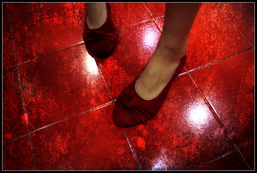 Red Shoes Red Floor