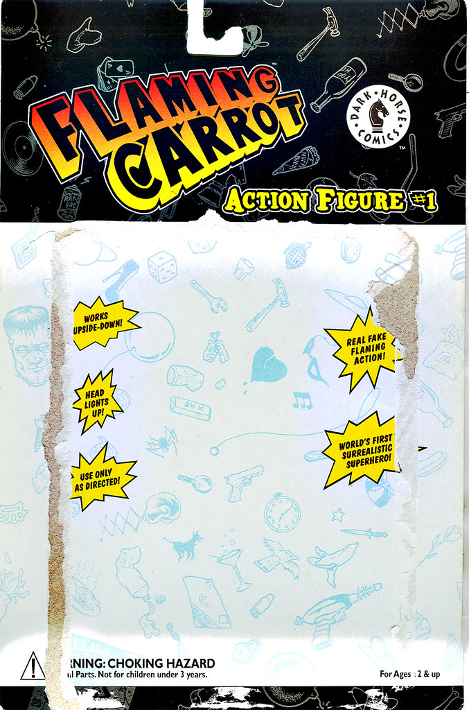 "DARK HORSE COMICS::   ""Flaming Carrot"" Action Figure ..card back i (( 1999 )) by tOkKa"