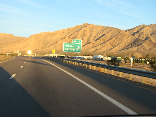 Desert Springs Exit, Interstate 15 Between Mesquite, Nevada and St. George, Utah