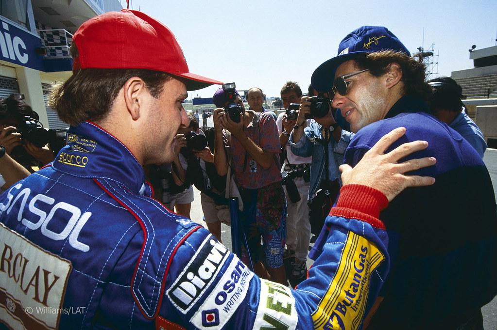 Ayrton Senna Rubens Barrichello 1993 South African Grand Prix