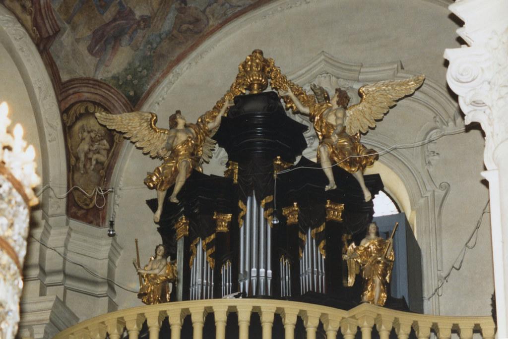 Praha, Kostel svatého Mikuláše (St. Nicolas's church), Staré město, organ, façade