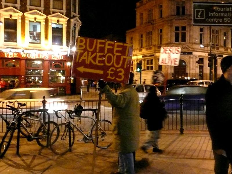jesus vs. buffet takeout