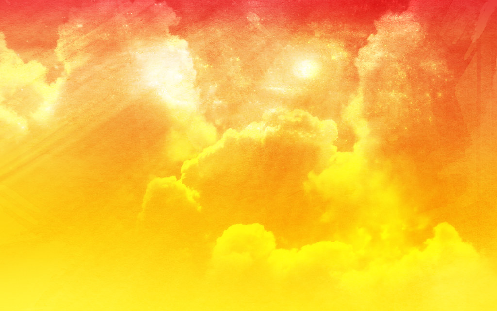Free Abstract Cloudy Sky Bright Orange Peel Background
