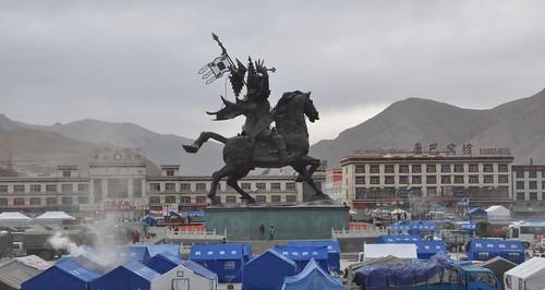 Gesar Fund - Yushu Gesar Statue 4   by Gesar Fund