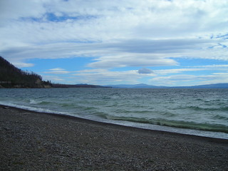Panoramic view on Yellowstone Lake on East Entrance Road near Lake Village | by RaSchi