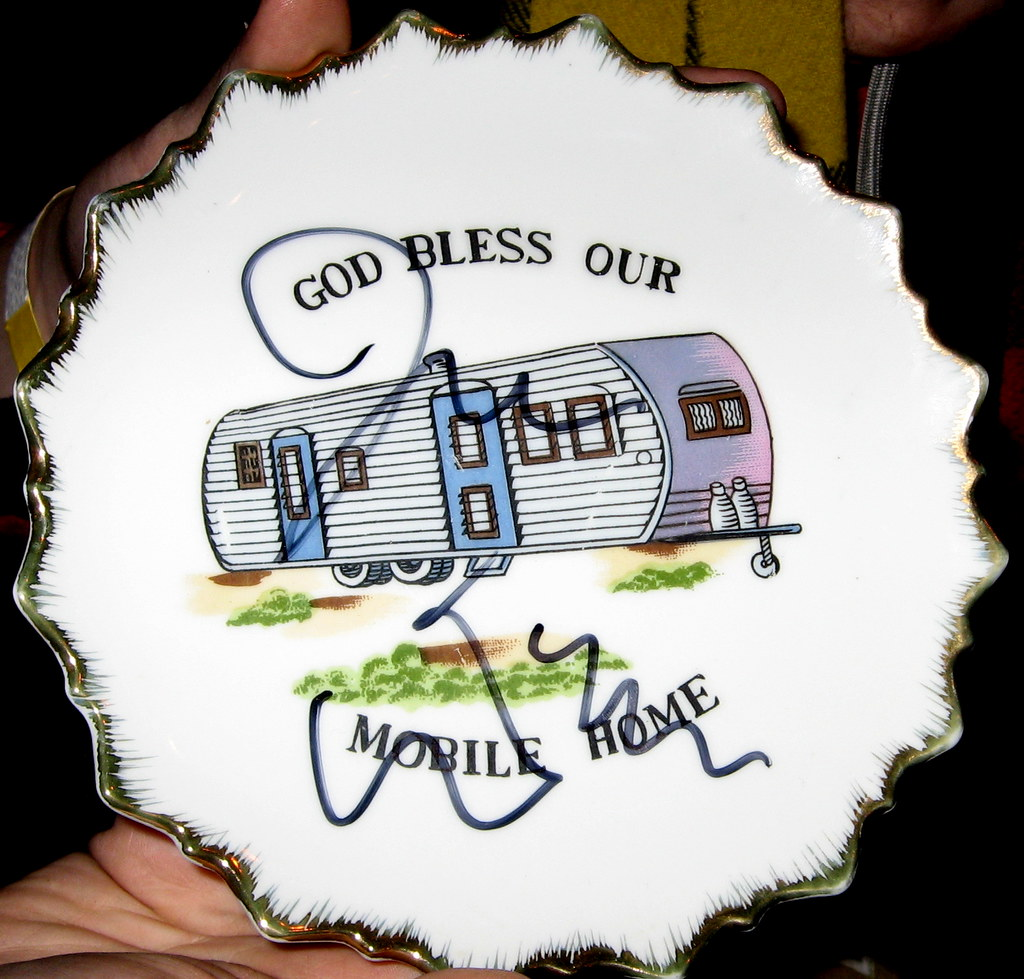 Sensational God Bless Our Mobile Home Plate Signed By John Waters Flickr Download Free Architecture Designs Rallybritishbridgeorg