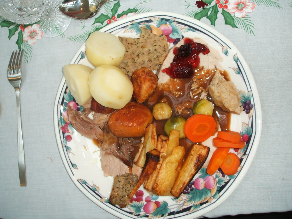 Traditional English Christmas Dinner.Traditional English Christmas Dinner 伝統的なクリスマス