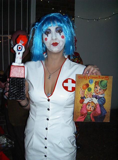 Nurse Clown with her awards