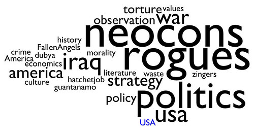 tag cloud: bush