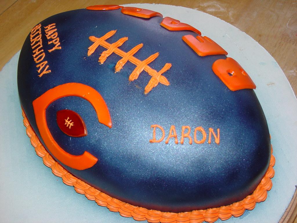 Superb Chicago Bears Birthday Football Cake Charley Salas Sbcglob Flickr Funny Birthday Cards Online Fluifree Goldxyz
